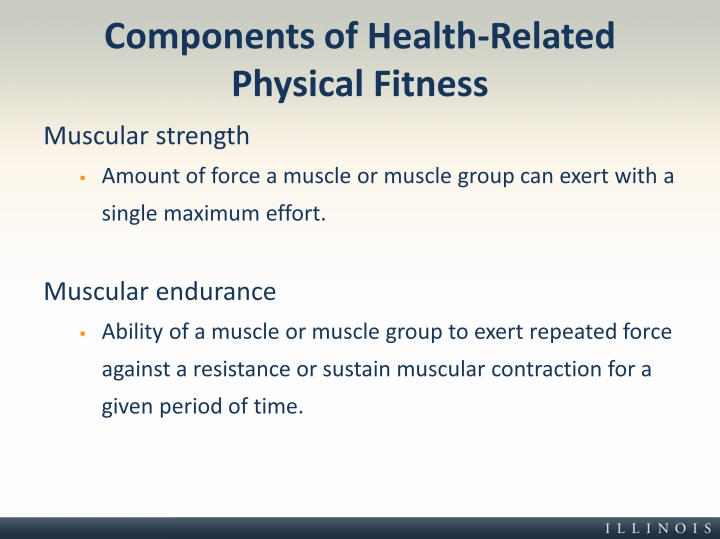 Components of Health-Related Physical Fitness