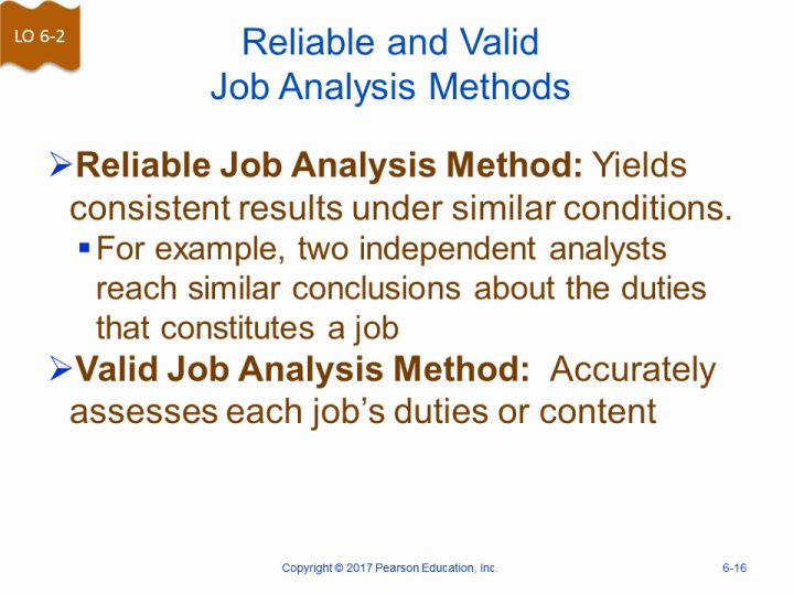 Reliable and Valid Job Analysis Methods - job analysis