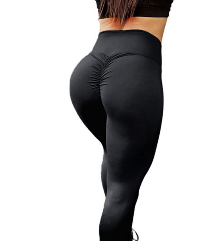 Charcoal Grey House Of Peach's Scrunch Bum Leggings | Who What Wear Uk