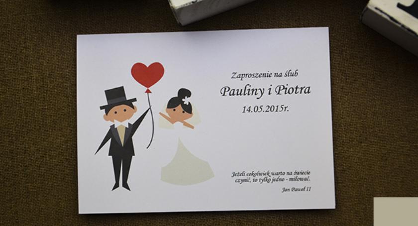 Śmieszne zaproszenie na ślub w atrakcyjnych cenach Ciechanów