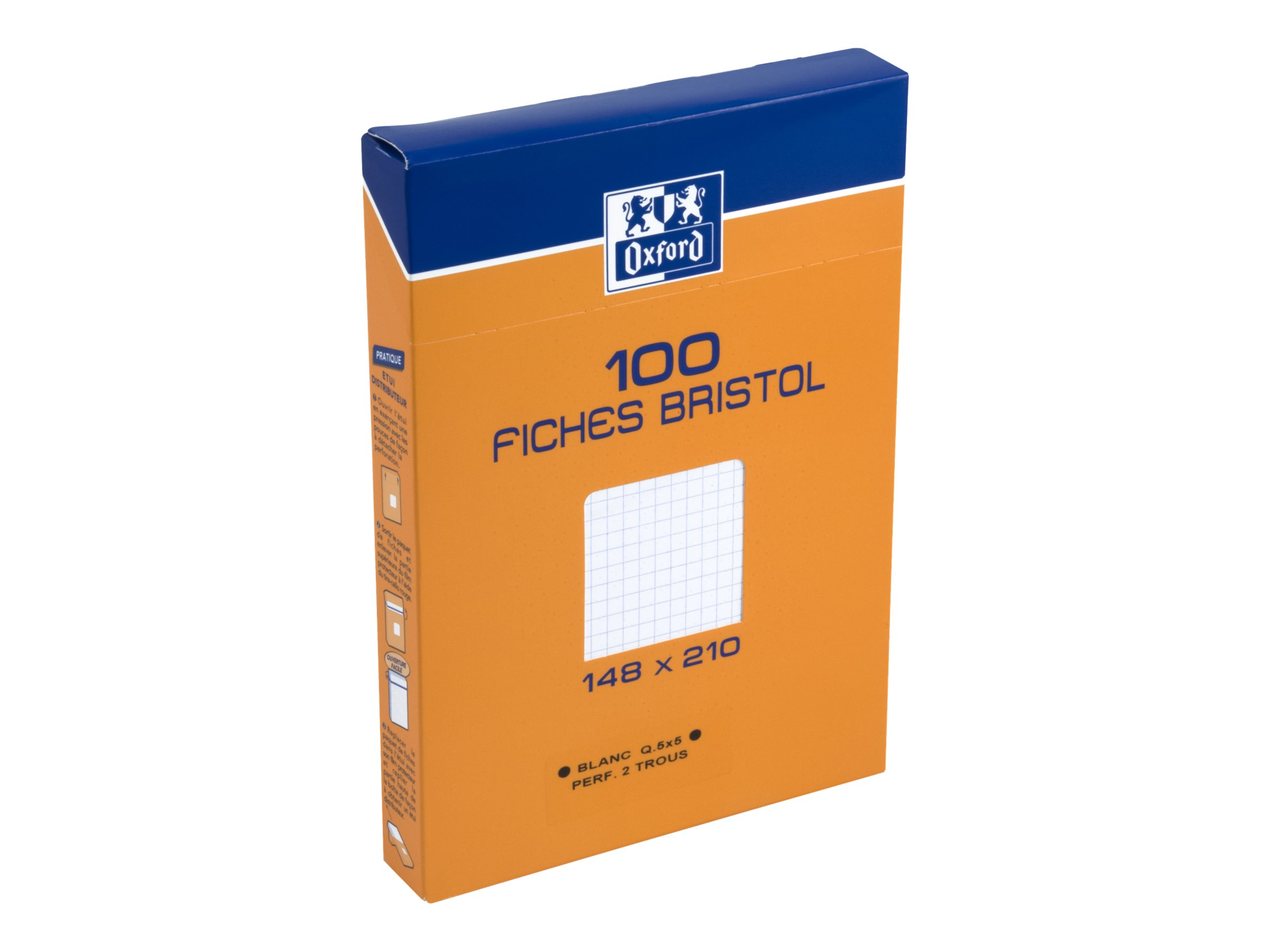 Destructeur De Documents Leclerc Oxford Bristol 100 Fiches D Index A5 Perforées Blanc Petits Carreaux