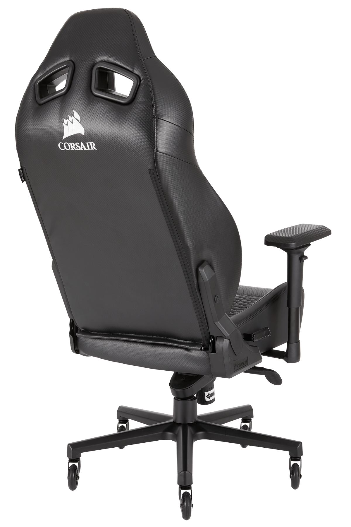 Gaming Sessel Mit Lenkrad Corsair T2 Road Warrior Chair Black Gaming Stuhl Schwarz Pu Leder Bis Zu 130 Kg