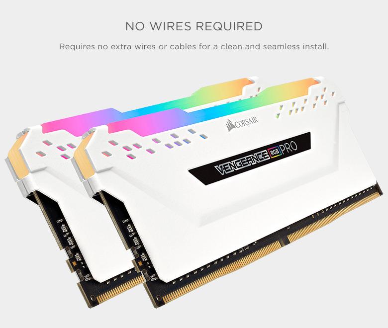CORSAIR Vengeance RGB Pro 16GB (2 x 8GB) 288-Pin DDR4 DRAM DDR4 3000
