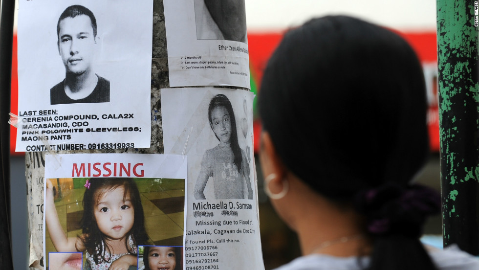 More than 1,000 missing in Philippines after storm - CNN - missing people posters