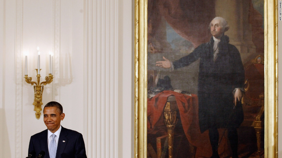 presidential portraits unveiled from washington to obama 1
