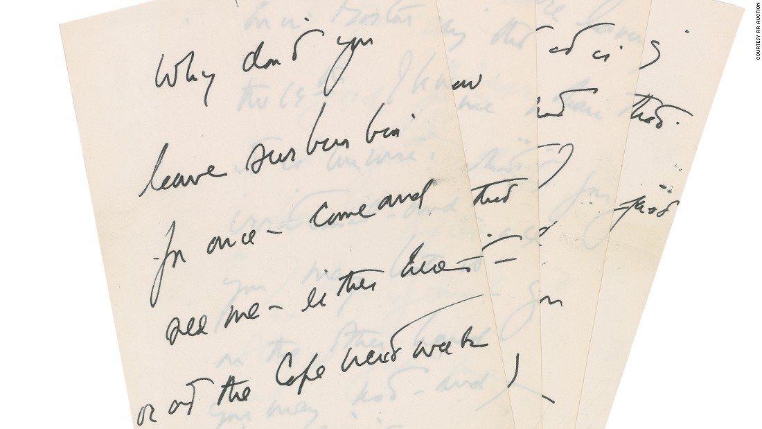 JFK\u0027s love letter to his mistress is up for sale - CNN - Love Letter