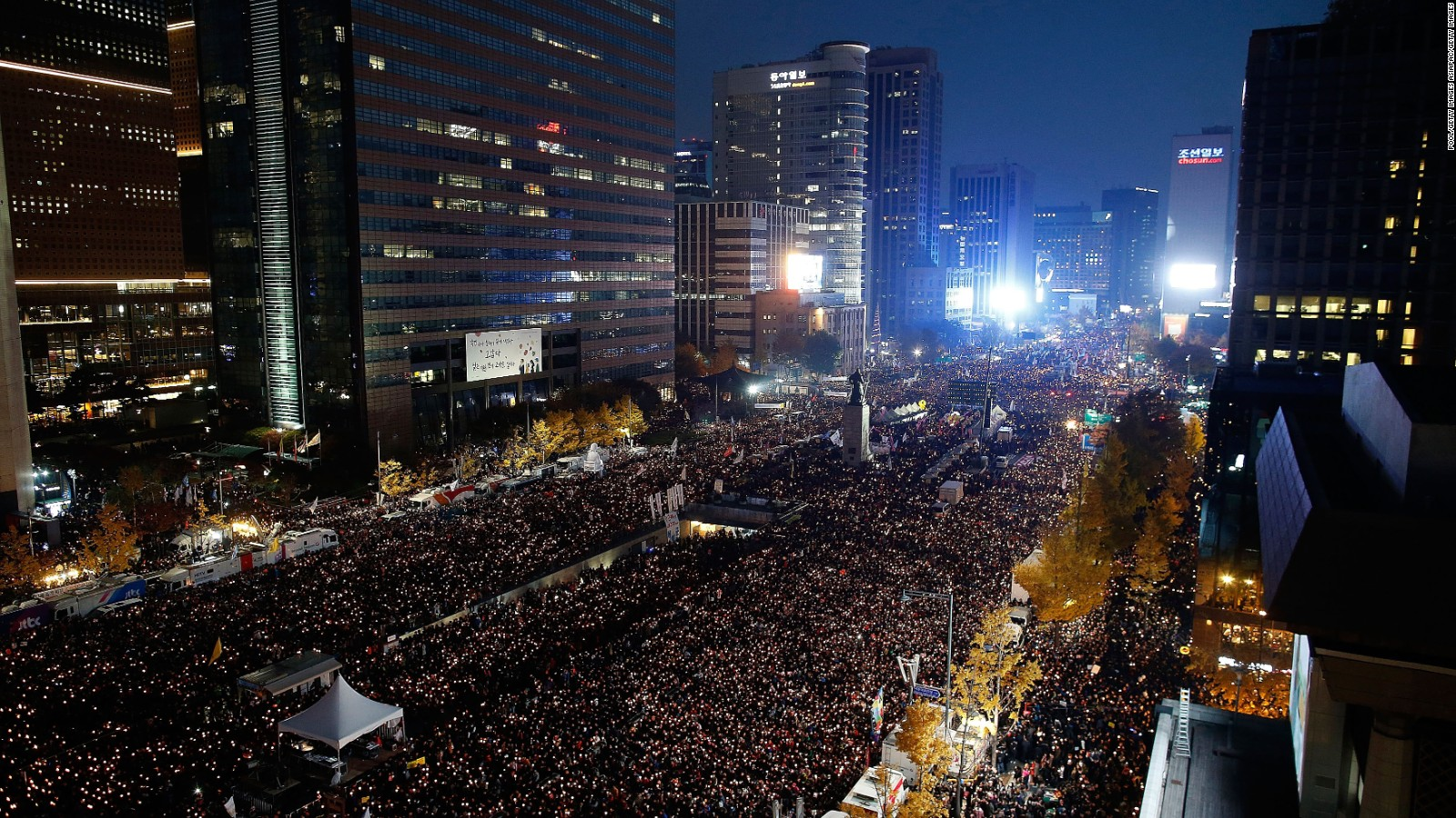 About South Korea Thousands Protest Against South Korean President