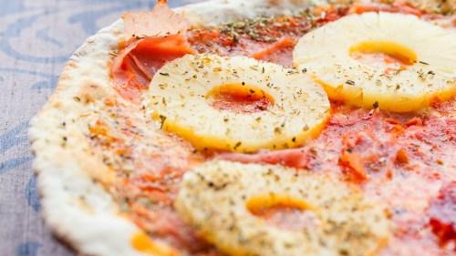 Medium Of Pizza On Pineapple