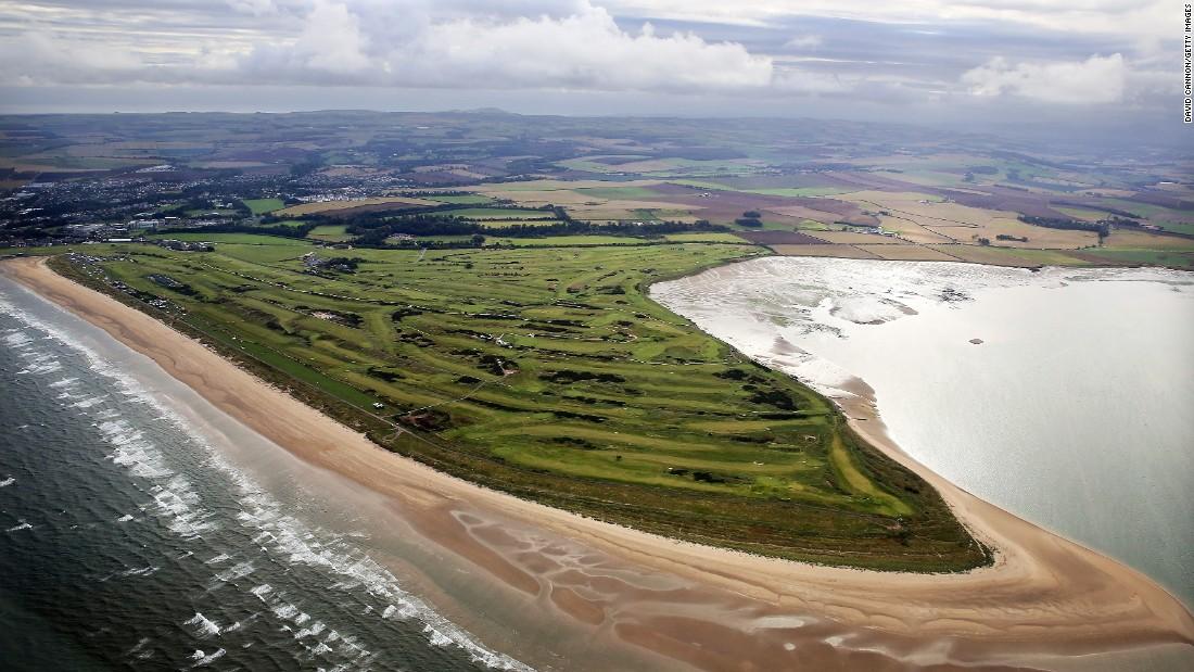 british open golf course layout