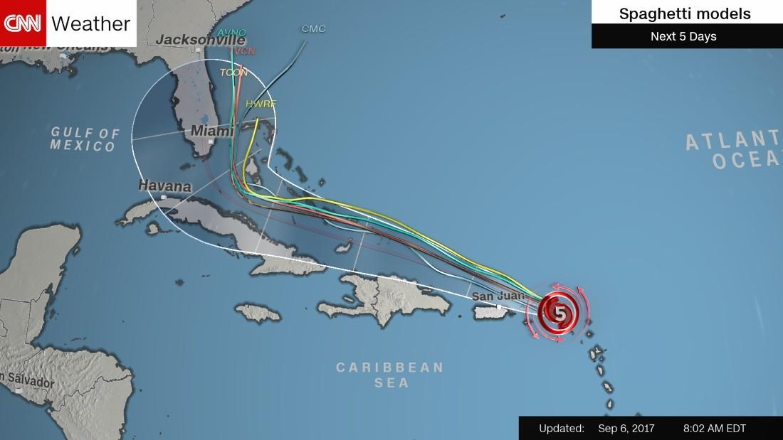 Spaghetti models put Hurricane Irma near Florida this weekend - CNN