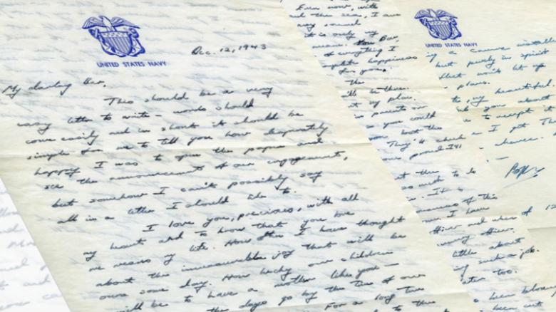 Read a love letter George HW Bush sent to Barbara Bush during - Love Letter