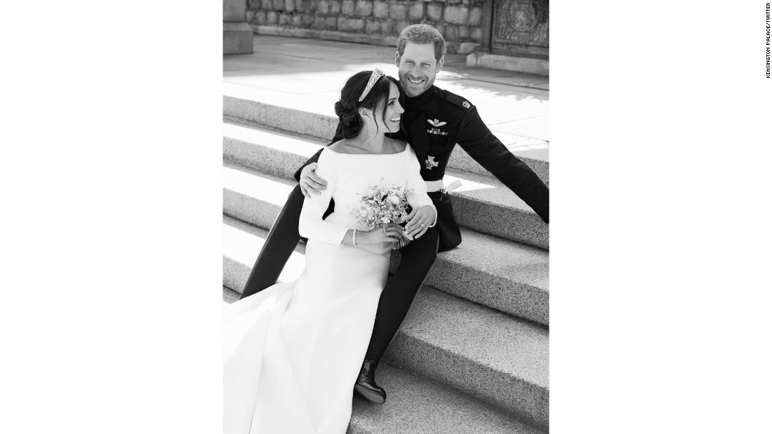 Royal wedding Harry and Meghan release official photos - CNN Style - wedding photo black and white
