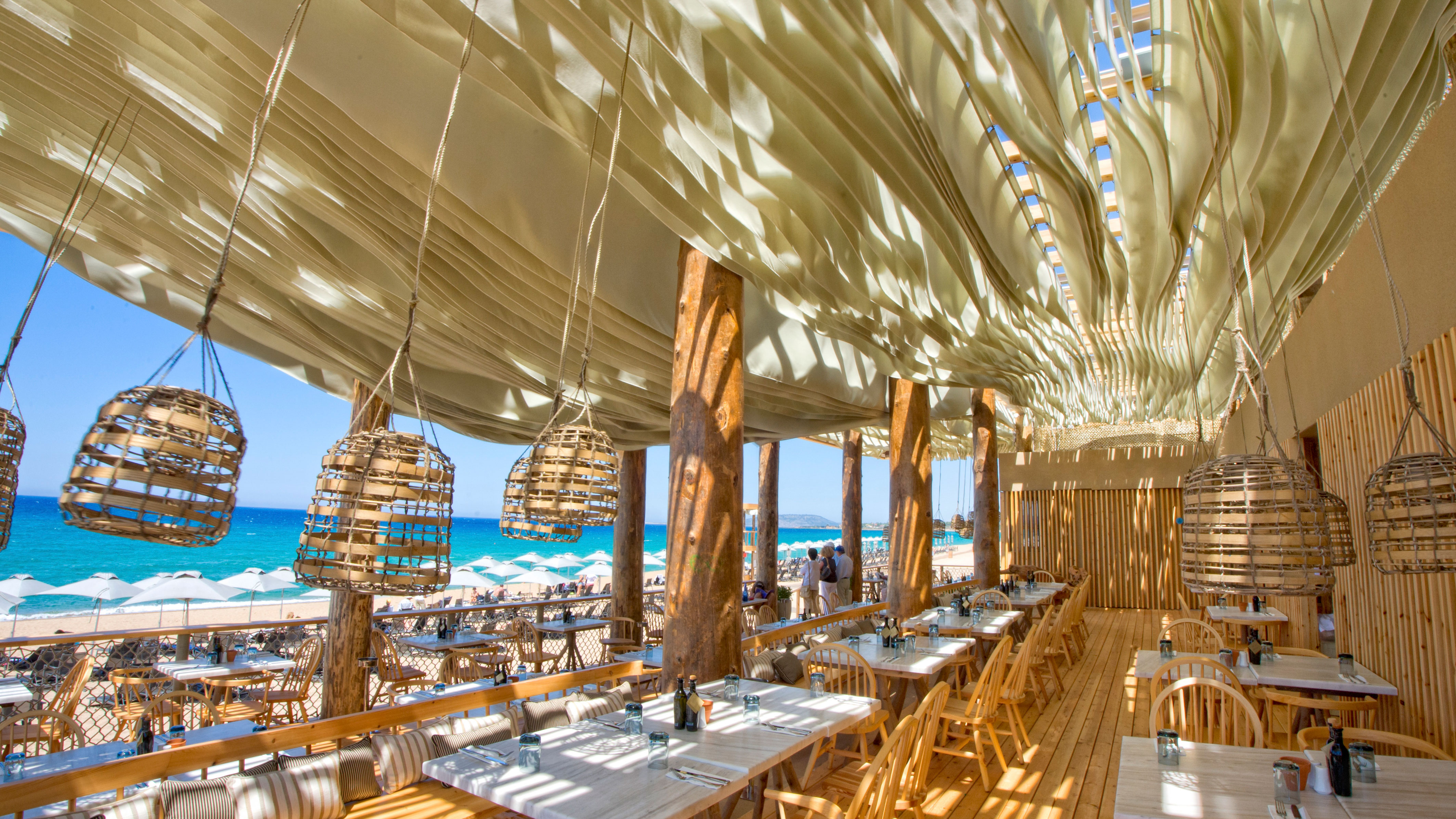 Beach Restaurant Costa Navarino Resort In Greece Has An Incredible Moving Roof