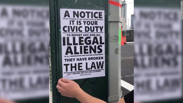 Flyers \u0027meant to intimidate immigrants\u0027 posted in Queens - CNN