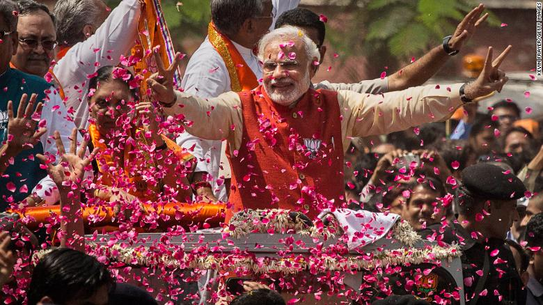 Prime Minister Narendra Modi, leader of India's ruling Bharatiya Janata Party (BJP), is seeking a second term in office.