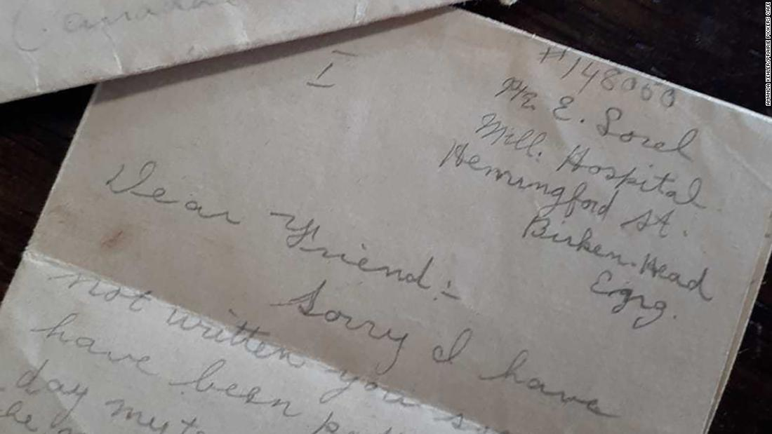 A WWI letter was found in a box of old papers after almost 102 years