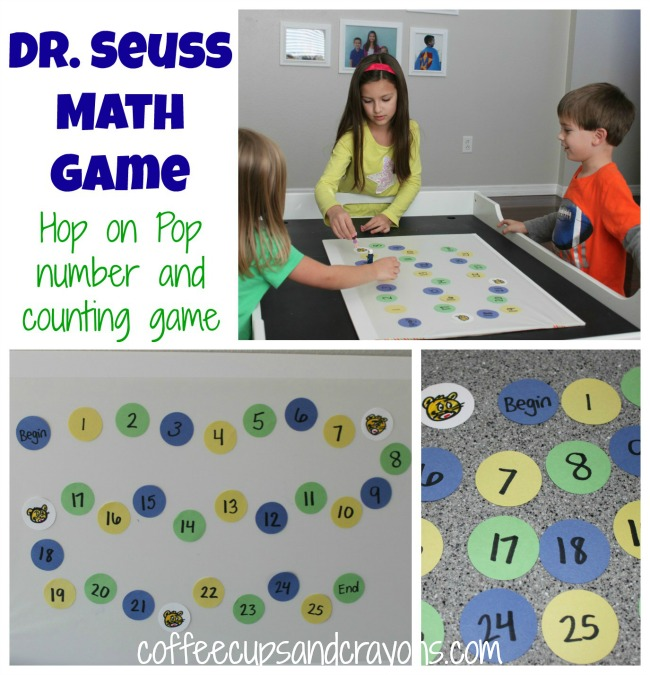Hop on Pop Dr Seuss Games Coffee Cups and Crayons