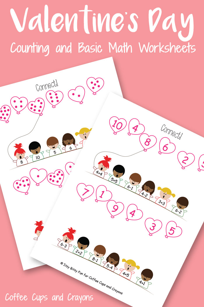 Valentines Day Printable Coffee Cups and Crayons
