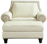 Wellesley Ivory Quilted Leather Chair, 704503