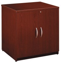 Series C Mahogany 30 Inch Storage Cabinet - WC36796A