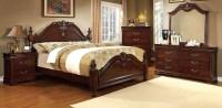 Mandura Cherry Poster Bedroom Set, CM7260Q-BED, Furniture ...