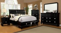 Laguna Hills Black Storage Platform Bedroom Set, CM7652L-Q ...