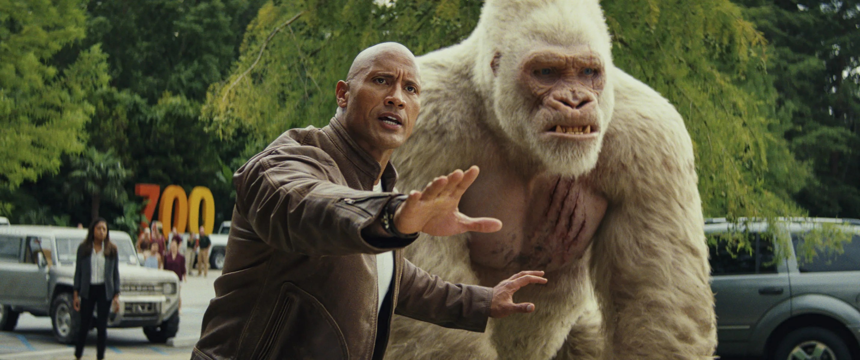 Fall Walk Wallpaper Rampage Review Dwayne Johnson Upstaged By A Giant Gorilla