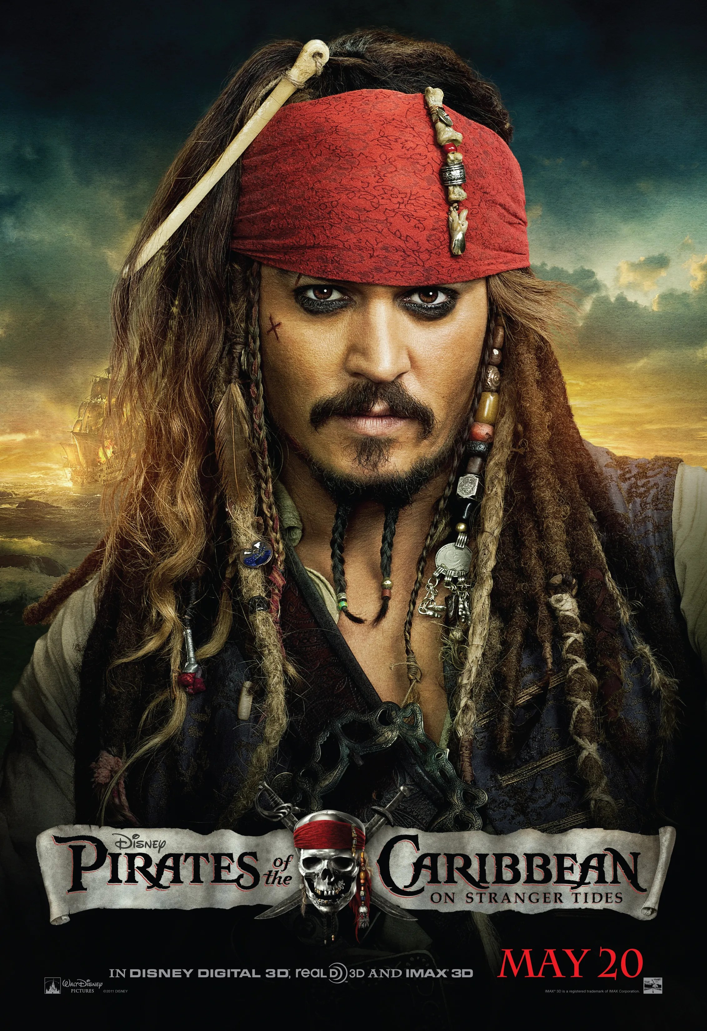 The Pirate Filme Pirates Of The Caribbean On Stranger Tides Movie Poster