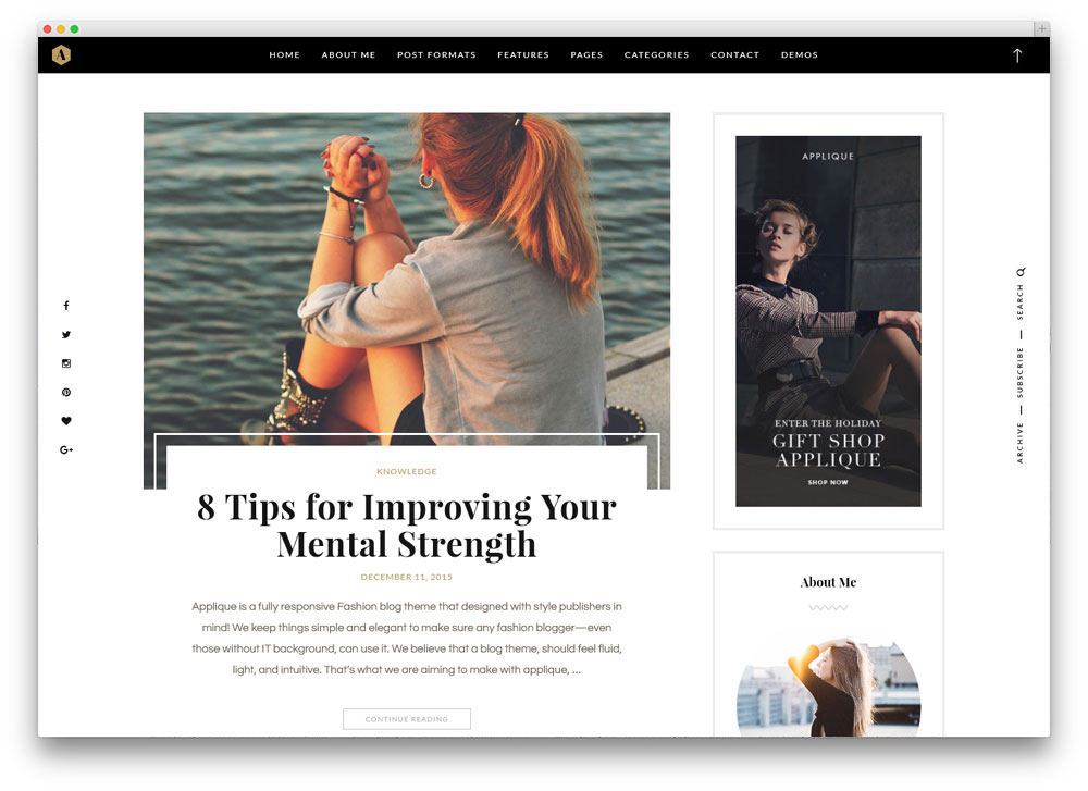 43 Best Fashion Blog  Magazine WordPress Themes 2018 - colorlib - fashion blogger templates