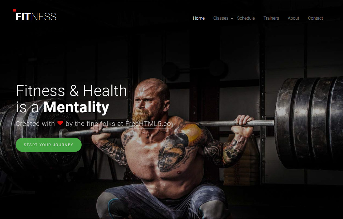 20 Best Free Fitness Website Templates To Make A Solid Website - Fitness Templates Free