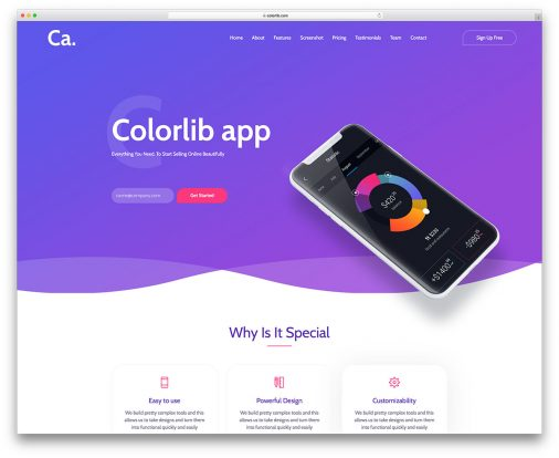 Top 30 Free Landing Pages Templates Built With Bootstrap 2018 - Colorlib - app templates free