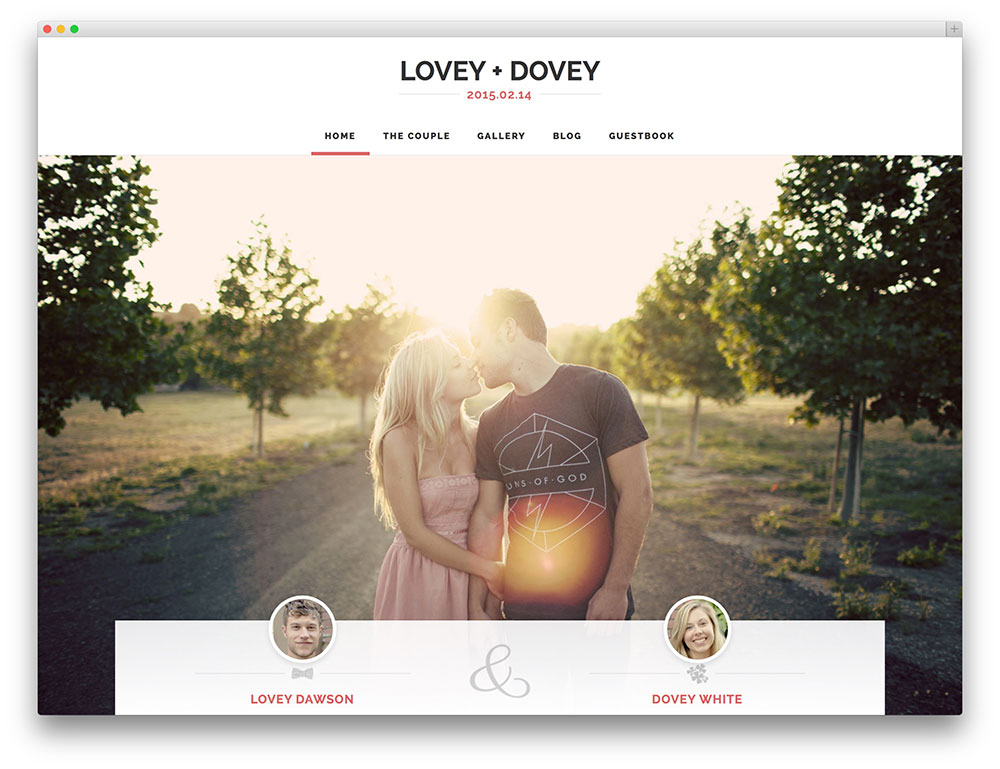 20+ Best WordPress Wedding Events  Marriage Themes 2018 - Colorlib - wedding template