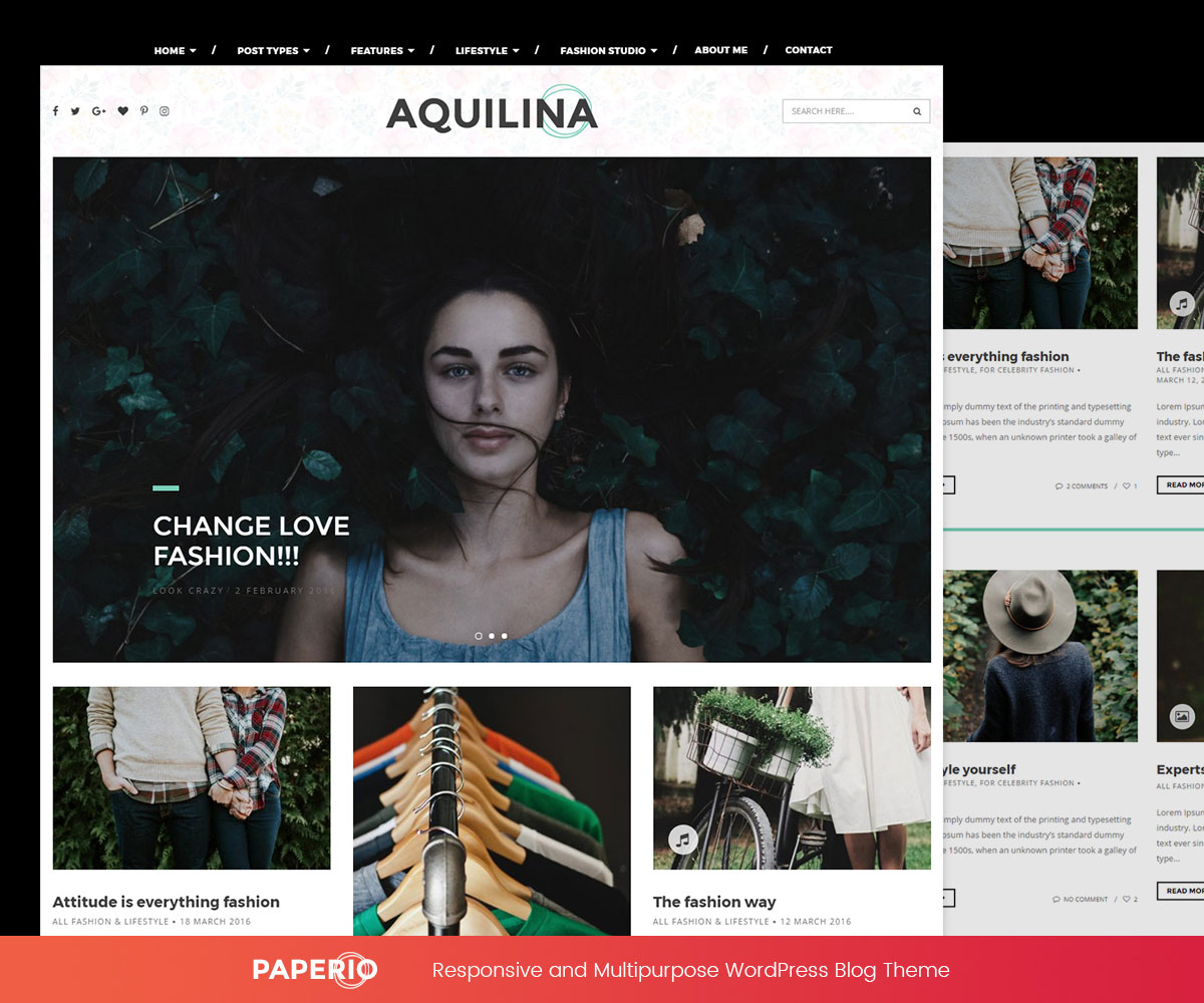 Paperio is a slender toolkit for creating handsome modern blogs webmasters across all markets and niches feel right at home in