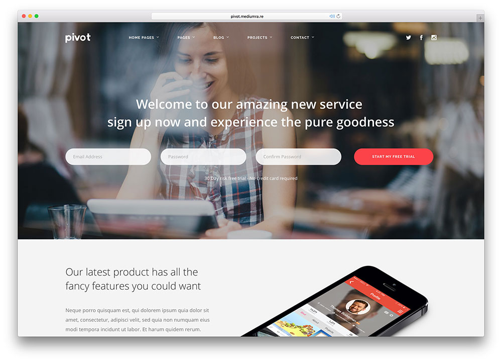 28 Awesome HTML5 Landing Page Templates 2018 - Colorlib - how to create a website template
