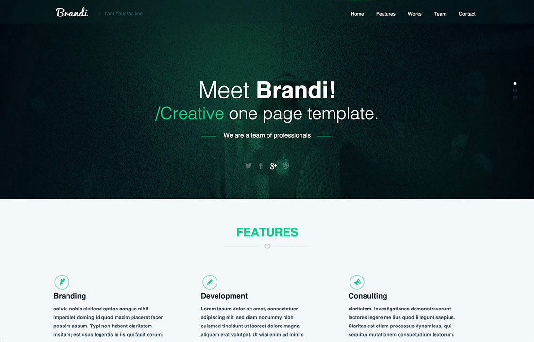 23 Free One-Page PSD Web Templates in 2017 - Colorlib