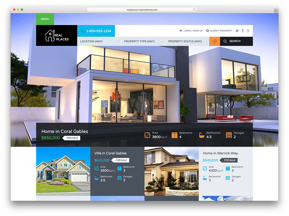 40 Best Real Estate WordPress Themes For Agencies, Realtors and - property management websites templates