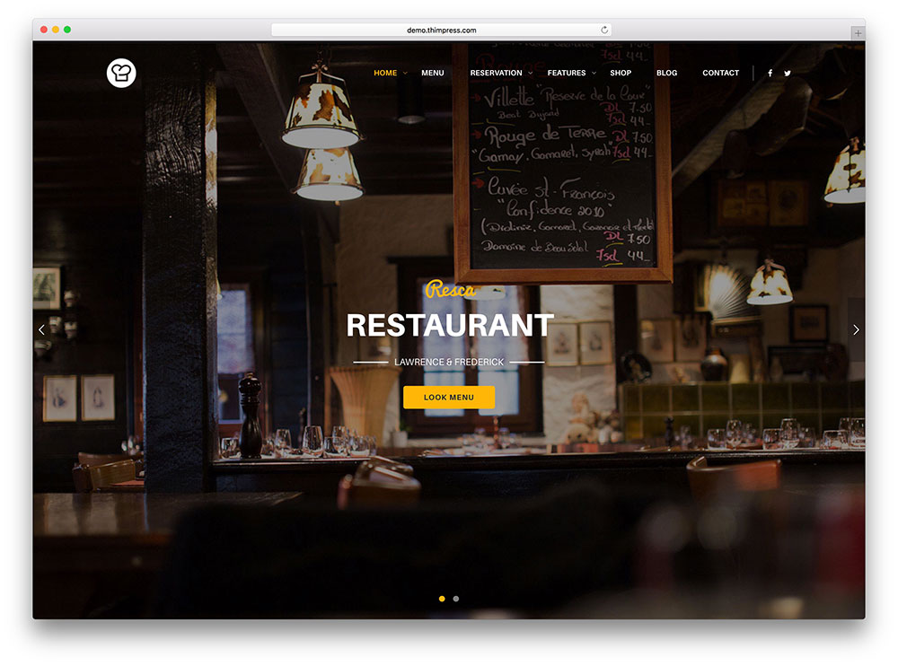 40+ Best WordPress Restaurant Themes 2018 - Colorlib - restaurant table layout templates