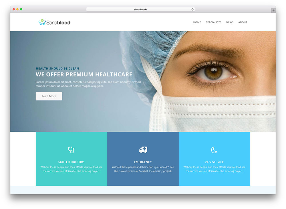 30+ Best Health and Medical WordPress Themes 2018 - colorlib - doctor office website template