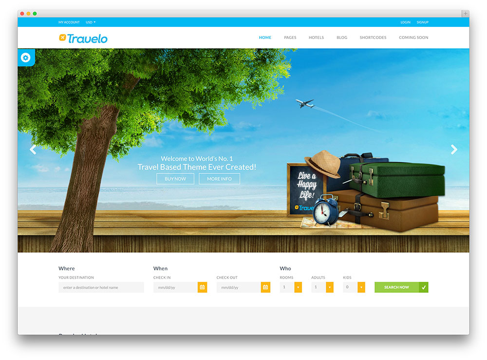 50+ Best WordPress Travel Themes For Blogs, Hotels and Agencies 2018 - wordpress travel themes
