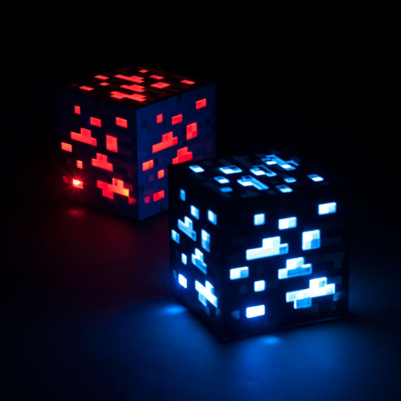 Deco Wallpaper 3d Veilleuse Minecraft Bloc De Pierre
