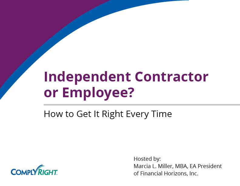Independent Contractor or Employee? How to Get It Right Every Time - employee or independant contractor