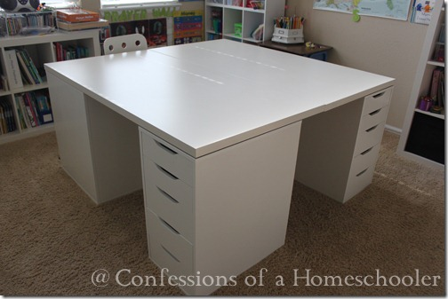Slide Under Sofa Table Our Ikea School Desks | Confessions Of A Homeschooler