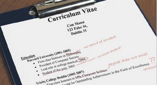 Facts About Lies In Resume Infographic Confessions of the