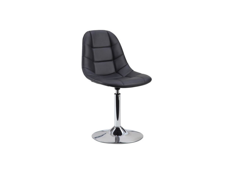 Oceane chaise de salle a manger en simili noir - Vente de Chaise