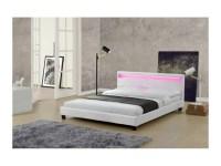 Magnifique lit love 140x190cm - cadre de lit led en simili ...
