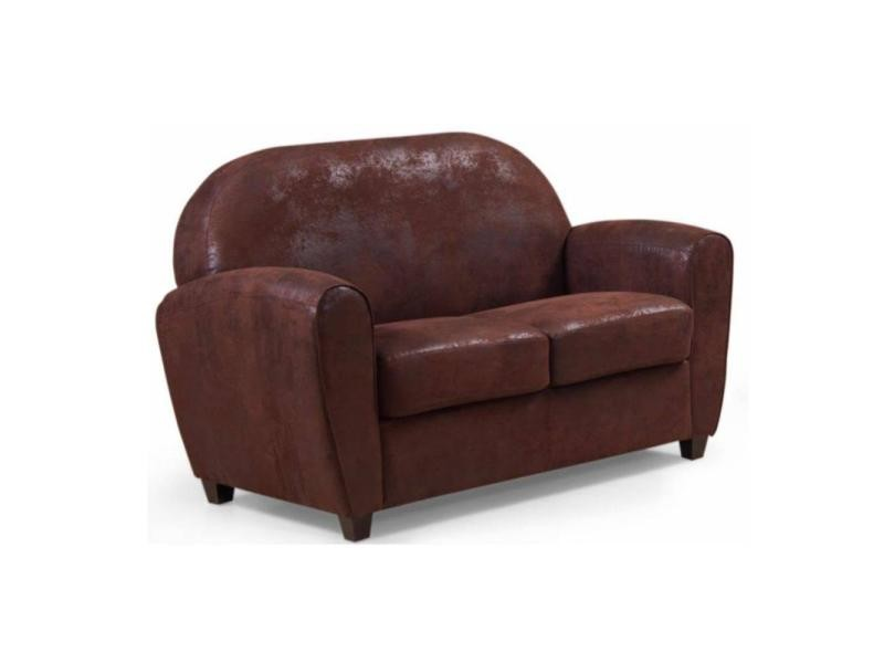 Canapé Chesterfield Velours 3 Places Canapé Club Bufallo 2 Places En Microfibre Vintage Marron