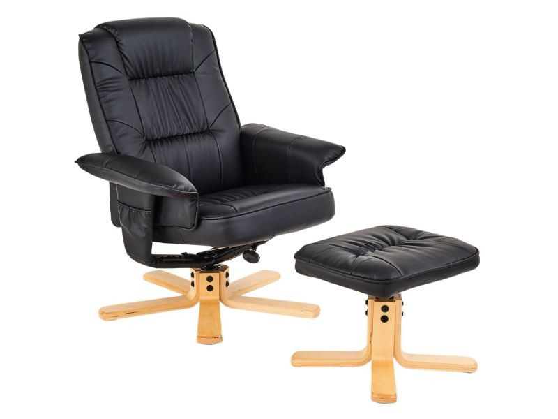 Fauteuil Relax Conforama Cuir Fauteuil De Relaxation Charly Avec Repose-pieds Pouf Siège