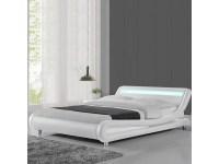Lit led design julio - blanc - 140x190 - Vente de Lit ...