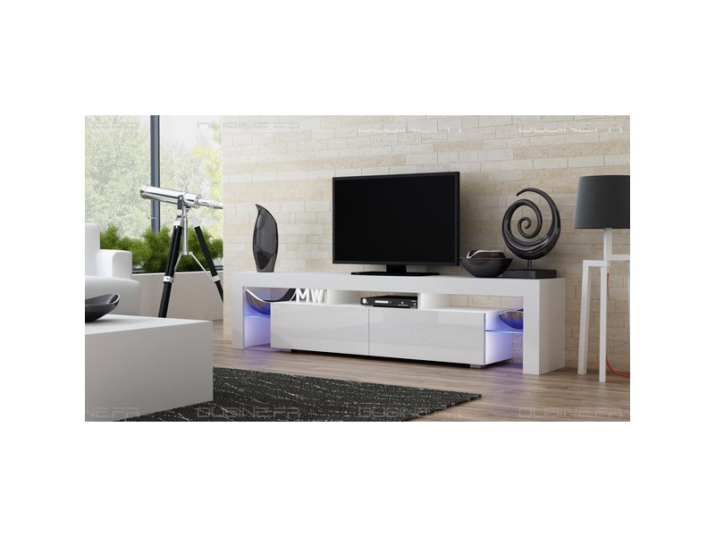 Meuble Tv Mural Conforama Meuble Tv Spider Big à Led En Blanc Mat Avec Portes Blanc