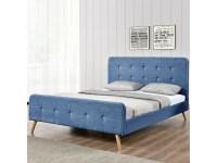 Lit scandinave - bleu, tailles - 140x190 - Vente de ...
